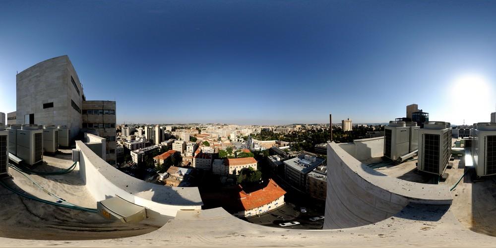 תצפית גג מלון מגדל ירושלים, סיור וירטואלי בירושלים 360