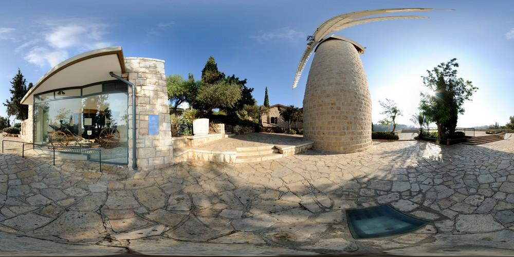 הכרכרה של מונטיפיורי, סיור וירטואלי בירושלים 360