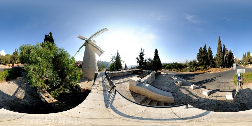 טחנת הרוח, סיור וירטואלי בירושלים 360