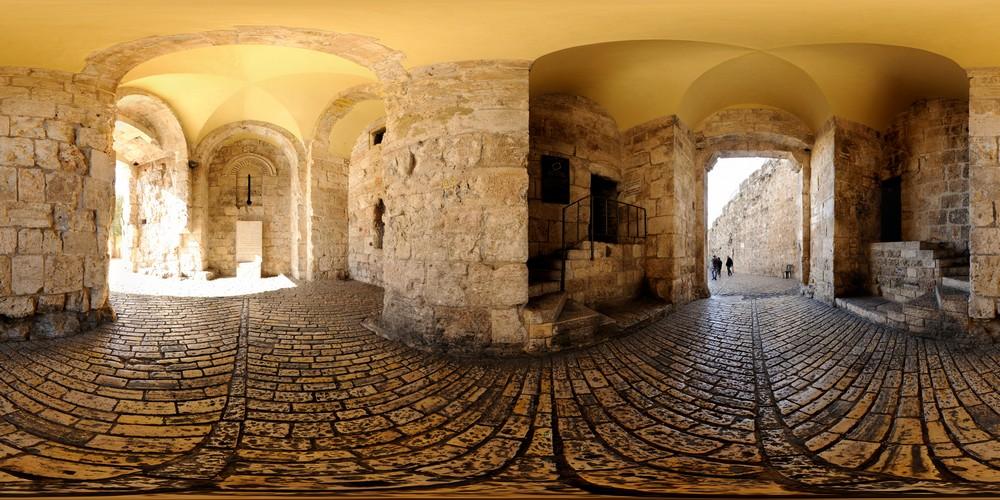 פנים שער ציון, סיור וירטואלי בירושלים 360